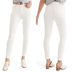Madewell 9-Inch High Rise White Skinny Jeans 29